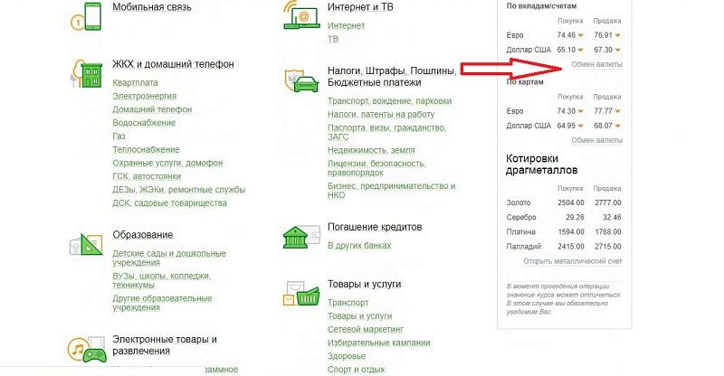 как перевести рубли в Евро в Сбербанке Онлайн