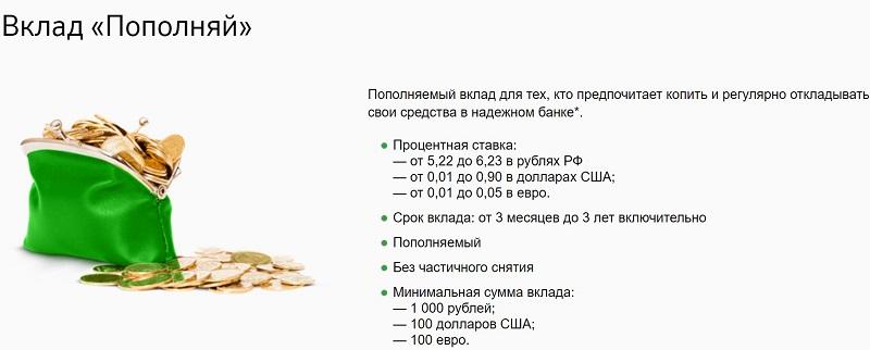 вклады в Сбербанке в долларах