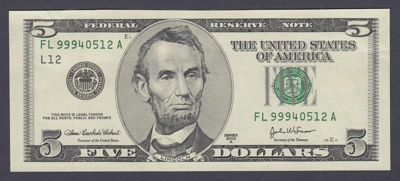кто изображен на купюре 5 долларов